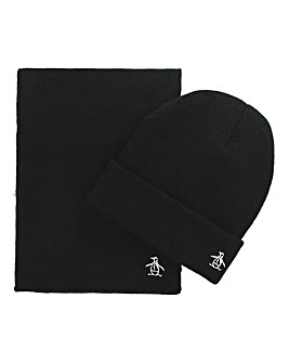 Original Penguin Prez Hat & Scarf Set