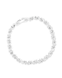Jon Richard Silver Crystal Bracelet
