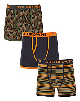 Joe Browns Pack of Three Boxers