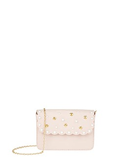 Monsoon Hayley Heart Scallop Satchel