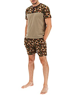 Joe Browns Camo Short and Tee Set