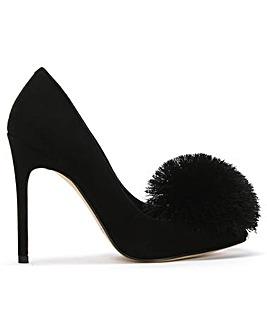 Daniel Pommy Suede Pom Pom Court Shoes