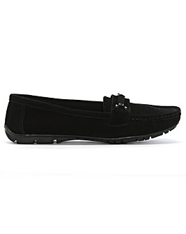 DF By Daniel Ashdon Suede Buckled Loafer