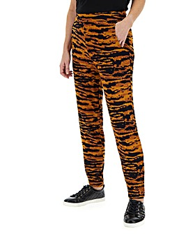 Tiger Print Tapered Trousers Regular