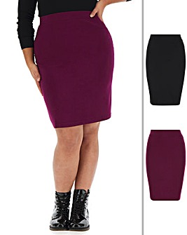 2 Pack Jersey Mini Tube Skirts