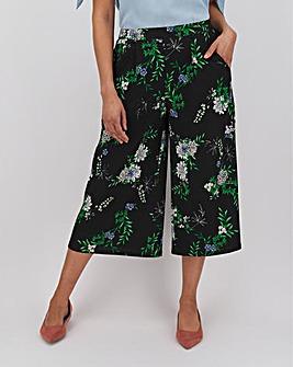 Floral Print Crepe Culottes