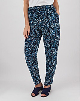 Floral Crepe Tapered Trousers Regular