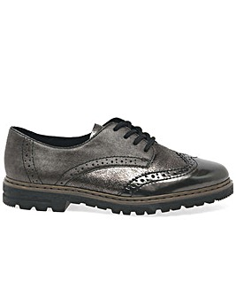 Rieker Metal Womens Wing Tip Brogues