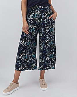 Heart Print Jersey Culottes