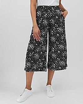 Spot Print Jersey Culottes