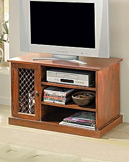 Sheesham Jali TV-VCR Cabinet