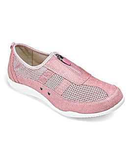 Cushion Walk Zip Front Leisure Shoes Extra Wide EEE Fit