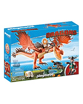 Playmobil Dragons Snotlout and Hookfang