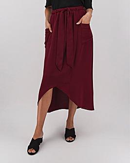 Patch Pocket Utility Maxi Skirt