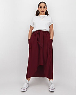 Patch Pocket Utility Maxi Skirt