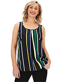 Multi Stripe Printed Woven Vest