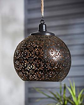 Hanging Cut Out Solar Lantern