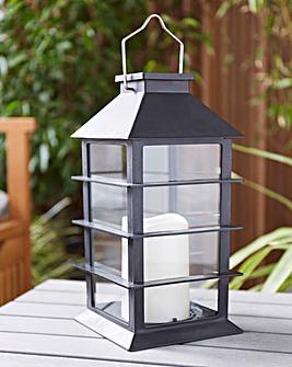 Black Square Solar Lantern