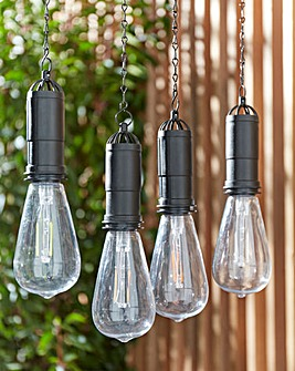 Set of 4 Solar Hanging Bulbs