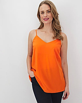 Orange Woven Strappy Cami