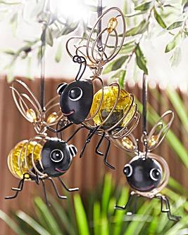 Smart Garden Set of 3 Solar Spiral Bees