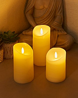 Set of 3 Flickerbright Candles