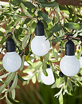 White Festoon Solar String Lights