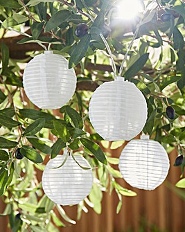 10 Paper Lantern Solar String Lights
