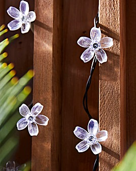 30 Flower Head Battery String Lights