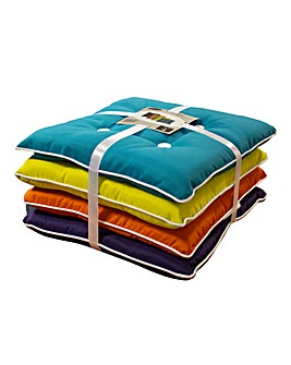 Set of 4 Assorted Outdoor Seat Cushions