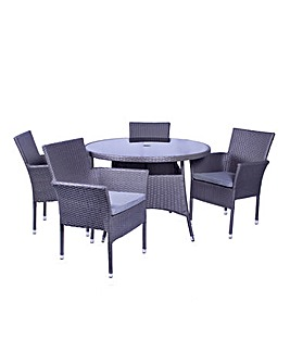 Malaga 4 Seater Stacking Dining Set