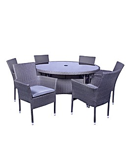 Maalga 6 Seater Stacking Dining Set