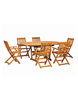 Turnbury 6 Seater Extending Dining Set