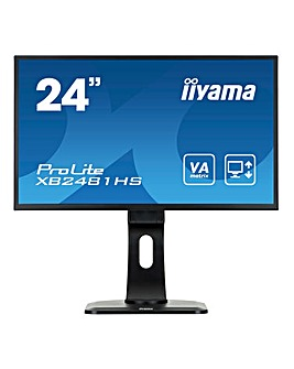 Iiyama ProLite XB2481HS 24inch VA Black Slim Bezel Monitor