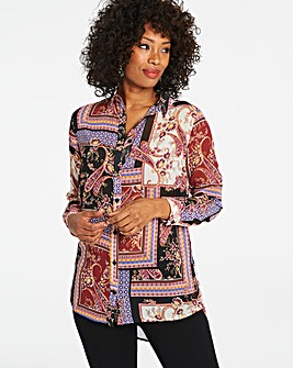 Paisley Print Button Through Shirt
