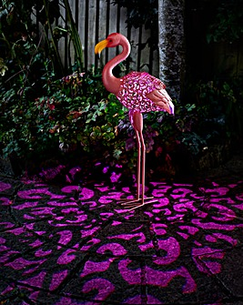 Solar Silhouette Flamingo