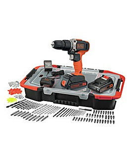Black + Decker 18v Hammer Dril Set