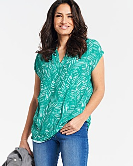 Green Print Ladder Insert Tunic