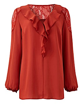 Terracotta Romantic Blouse
