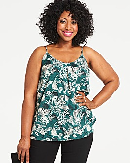 Green Print Strappy Cami