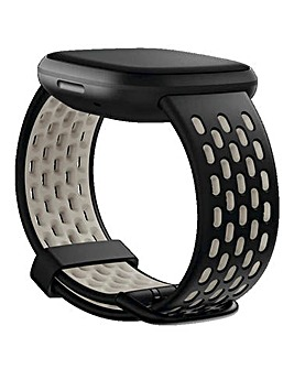 Fitbit Versa 3 + Sense Sport Band - Black/Lunar