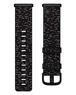 Fitbit Versa 3 + Sense Woven Band - Charcoal