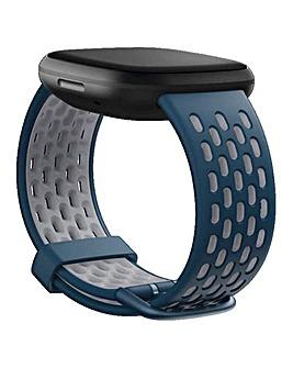 Fitbit Versa 3 + Sense Sport Band - Sapphire/Fog Grey