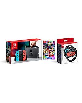 Neon Switch + Mario Kart 8 + Wheel Pair