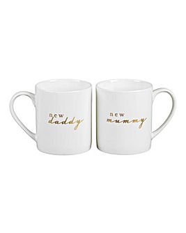 Bambino New Mummy Daddy Mug Set