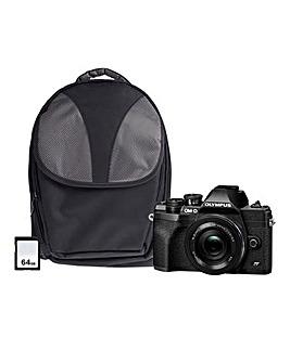 Olympus OM-D E-M10 MK IV Mirrorless Camera Bundle - Black