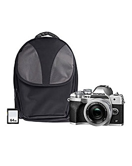 Olympus OM-D E-M10 MK IV Mirrorless Camera Bundle - Silver
