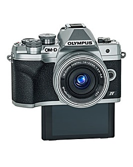 Olympus OM-D E-M10 MK IV Mirrorless Camera with 14-42 mm - Silver