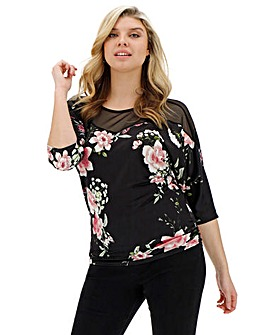 Quiz Floral Ruched Side Blouse