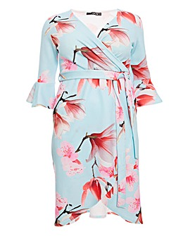 Quiz Floral Wrap Dress